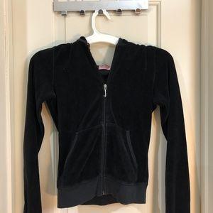 Juicy couture velour jacket hoodie black small